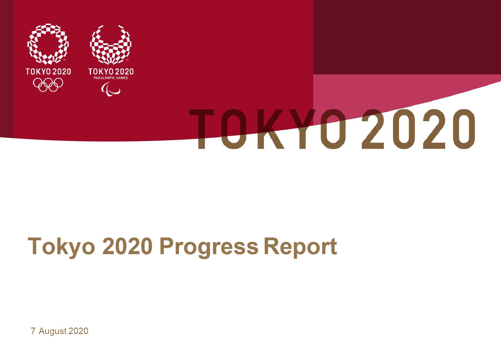 Tokyo 2020 - Progress Report_EN August 2020