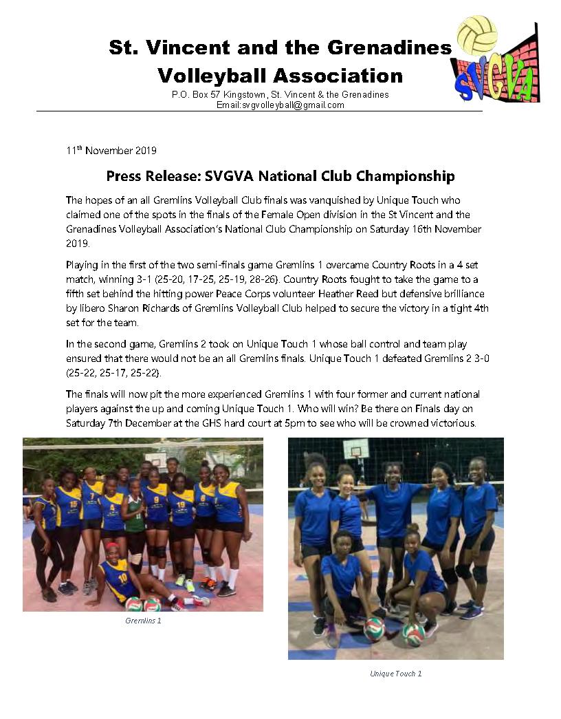 2019 Nov 17 Press Release SVGVA Championships_Page_1
